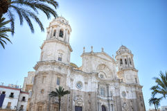 Cadiz cathedral,Greece royalty free stock photo