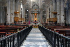 Cadiz cathedral interior Royalty Free Stock Photos