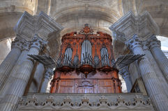 Cadiz cathedral organ Royalty Free Stock Images