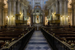Cadiz cathedral shrine. An inside shot of cadiz cathedral shrine Royalty Free Stock Images