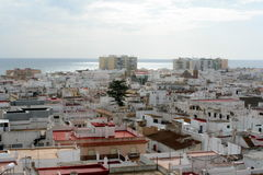 Cadiz city. Aerial view of Cadiz city with sea in background, Andalusia, Spain Stock Photos