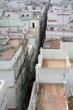 Cadiz city. Aerial view of narrow alleyway between house in Cadiz city, Spain Stock Image