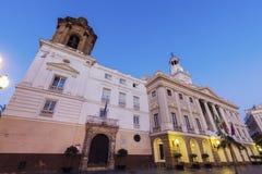 Cadiz City Hall on Plaza San Juan de Dios. Cadiz, Andalusia, Spain Royalty Free Stock Photos
