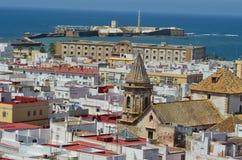 Cadiz. City landscape of Cadiz on the background of the sea. Spain Royalty Free Stock Photo