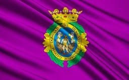Flag of Cadiz city of Spain vector illustration