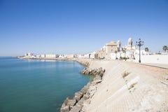 Cadiz city waterfront Stock Images