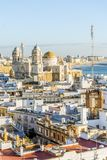 Cadiz cityscape with famous Cathedral, Andalusia, Spain. Sunny cityscape with famous Cathedral of Cadiz, Cadiz, Andalusia, Spain Royalty Free Stock Images