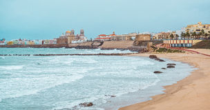 Cadiz coastline in winter Royalty Free Stock Images