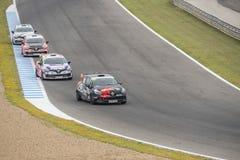 CADIZ - 28 DE MAIO: Clio Cup Spain no circuito o de Jerez de la Frontera imagem de stock royalty free