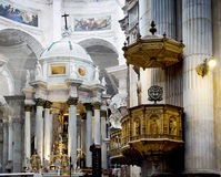 Cadiz domkyrka La Catedral Vieja, Iglesia de Santa Cruz Andalusia Spanien Fotografering för Bildbyråer