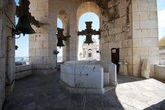 Cadiz domkyrkaKlocka torn royaltyfria bilder