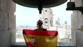 Cadiz Hiszpania grodzka flaga zbiory wideo