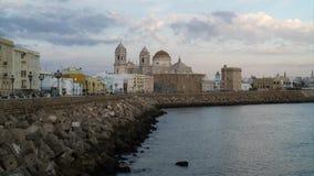 Cadiz linia horyzontu i katedry Andalusia Hiszpania time lapse zbiory wideo