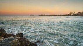 Cadiz linia horyzontu Od Santa Maria plaży Cadiz Hiszpania czasu upływu zbiory wideo