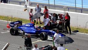 CADIZ - MAJ 28: Formel V8 3 för världsserie 5 på Jerez de la Bekläda lager videofilmer