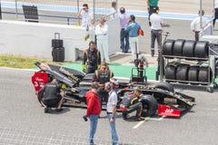 CADIZ - MAY 28: World Series Formula V8 3.5 at Jerez de la Frontera Circuit on May 28, 2017 in Cadiz, Spain Royalty Free Stock Photos
