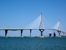 Cadiz new bridge. Called Pepa or the Constitution. Andalucia. Spain Royalty Free Stock Photo