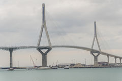 Cadiz new bridge view, called Pepa or the 1812 Constitution, And Royalty Free Stock Photo