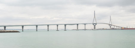 Cadiz new bridge view, called Pepa or the 1812 Constitution, And Stock Photography
