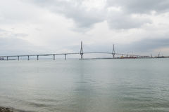 Cadiz new bridge view, called Pepa or the 1812 Constitution, And Stock Image