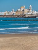 Cadiz and ocean Royalty Free Stock Images
