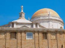 Cadiz odgórna Katedra Zdjęcie Royalty Free