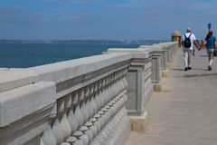 Cadiz Seafront. Detail of the promenade walk around Cadiz, Spain Stock Photos