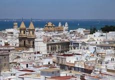 Cadiz sikt från torre Tavira Royaltyfri Fotografi