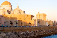 Cadiz, Spain. View of Cadiz at sunset, Spain, Europe Stock Photography