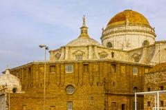Cadiz, Spain. Cupola of Cathedral church. Stock Photos