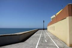 Quay in the city of Cadiz, standing on the Atlantic coast. Royalty Free Stock Photos