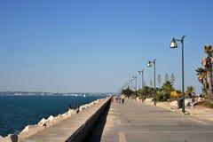 Quay in the city of Cadiz, standing on the Atlantic coast. Royalty Free Stock Photo