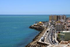 Quay in the city of Cadiz, standing on the Atlantic coast. Stock Images