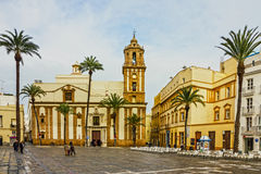Cadiz, Spain. New Cathedral church Stock Images