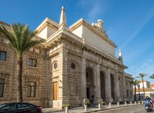 View at the building of Museum in Cadiz - Sapin Stock Photos