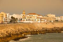 Cadiz Spanien-Maj 14,2015: Cadiz i Andalucia, Spanien royaltyfri bild