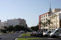 CADIZ, SPANJE - JULI 5, 2011: Het Grondwetsvierkant is één van de belangrijkste vierkanten van Cadiz royalty-vrije stock foto