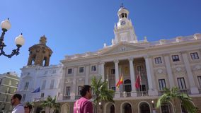 Cadiz, stadscentrum stock video