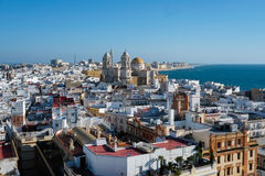 Cadiz from Torre Tavira. Aerial view of Cadiz from Torre Tavira, Andalucia, Spain Stock Images