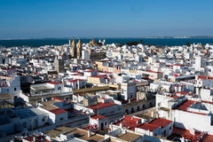Cadiz from Torre Tavira Royalty Free Stock Photography