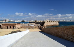 Cadiz view from the castle of Santa Catalina Royalty Free Stock Image