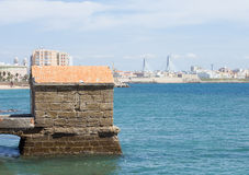Cadiz view from seaside Stock Photography