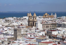 Cadiz, view from torre Tavira Royalty Free Stock Image