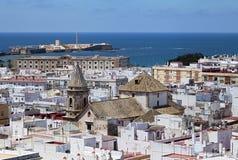 Cadiz, vista do torre Tavira Fotografia de Stock