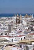 Cadiz, vista do torre Tavira Foto de Stock