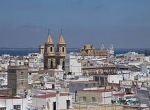 Cadiz, vista do torre Tavira Fotografia de Stock Royalty Free