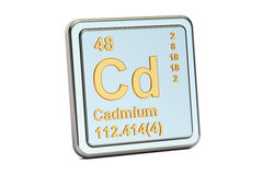 Cadmium Cd, chemical element sign. 3D rendering Stock Photography