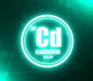 Cadmium chemical element. vector illustration