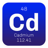 Cadmium chemical element Royalty Free Stock Image
