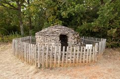 Cadole, stony shelter for shepherd and wine grower Stock Images